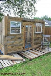 Projet de cabane de palettes Le revêtement de palettes 2