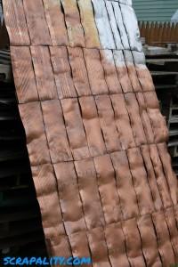 Projet de cabane de palettes Le toit 2