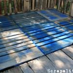 Projet de cabane de palettes: le plancher de palettes