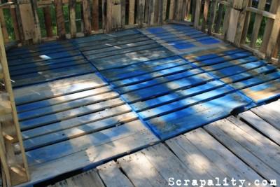 Projet de cabane de palettes le plancher de palettes 1