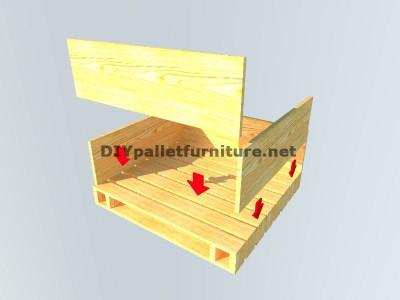 Table-coffre fait avec palettes 4
