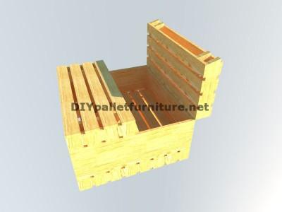 Table-coffre fait avec palettes 6