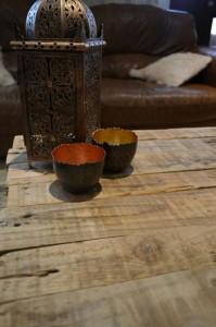 Table rustique faite avec palettes 3