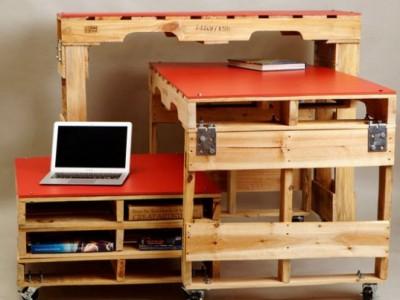 Trois tables de palettes pour les chambres avec un espace limité 1