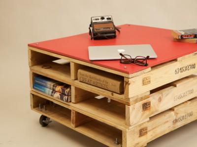 Trois tables de palettes pour les chambres avec un espace limité 2