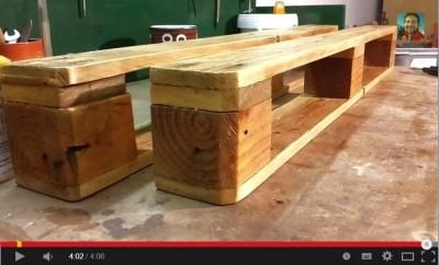 Vidéo de la façon de faire une étagère utilisant une palette