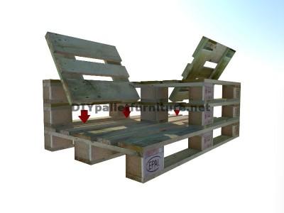 Guide pour construire un siège double utilisant des palettes 6