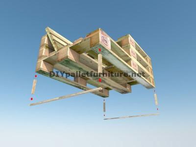Guide pour construire un siège double utilisant des palettes 7