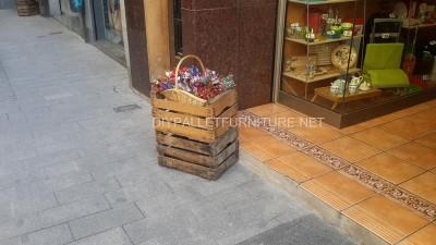 Jardinières improvisés avec des boîtes de fruits 3
