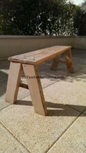 Simple banc avec planches de palettes pour votre jardin 1