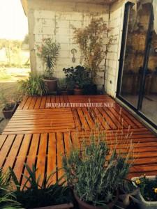 Des exemples de terrasses construites avec des palettes 7