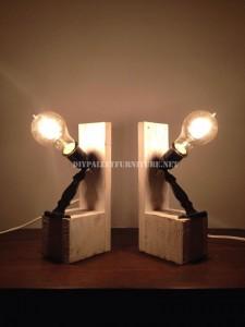 Lampes de chevet faites avec des palettes 1