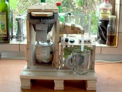 Une machine à café intégrée avec palettes! 2