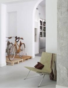 Vous ne avez pas un bon endroit pour garer votre vélo les palettes sont la solution! 6