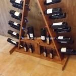 Casier à vin options préparées avec des palettes