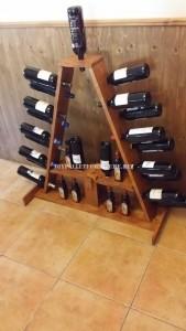Wine racks options préparées avec des palettes 2