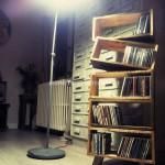 Bibliothèque design en planches de palettes