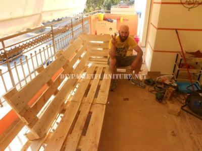 Canapé de terrasse faite avec palettes 2