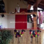 Caribbean Bar construit avec palettes