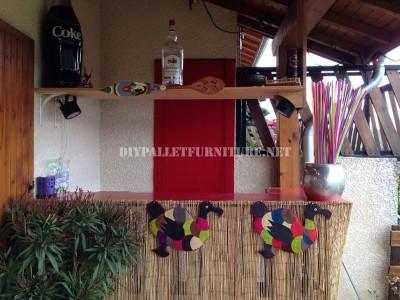 Caribbean Bar construit avec palettes 1