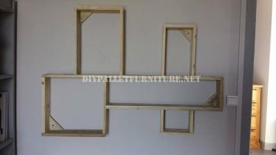 Design d'étagère construit avec des palettes planches 5
