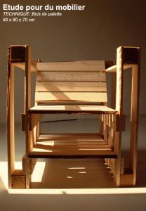 Design intéressant 2 en 1 d'une chaise et bibliothèque avec des palettes 4