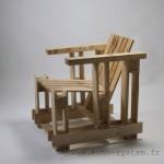 Echo-system propose un design très spécial pour un fauteuil avec palettes