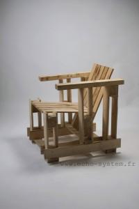 Echo-system propose un design très spécial pour un fauteuil avec palettes 1