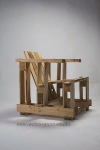 Echo-system propose un design très spécial pour un fauteuil avec palettes 3