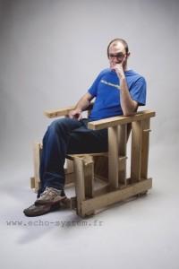 Echo-system propose un design très spécial pour un fauteuil avec palettes 4
