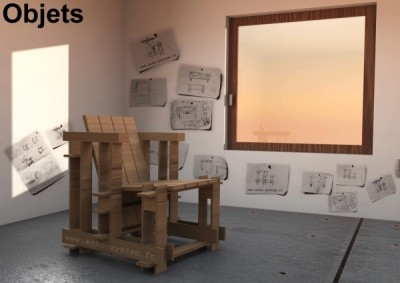 Echo-system propose un design très spécial pour un fauteuil avec palettes 6