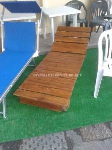 Ensemble de mobilier d'extérieur pour le jardin construit en utilisant les palettes 3