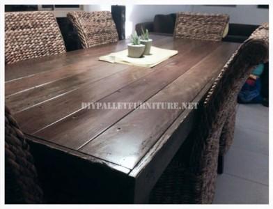 Table à manger à base de palettes 5
