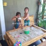 Table et bac à sable de palettes
