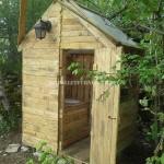 Cabane avec salle de bains