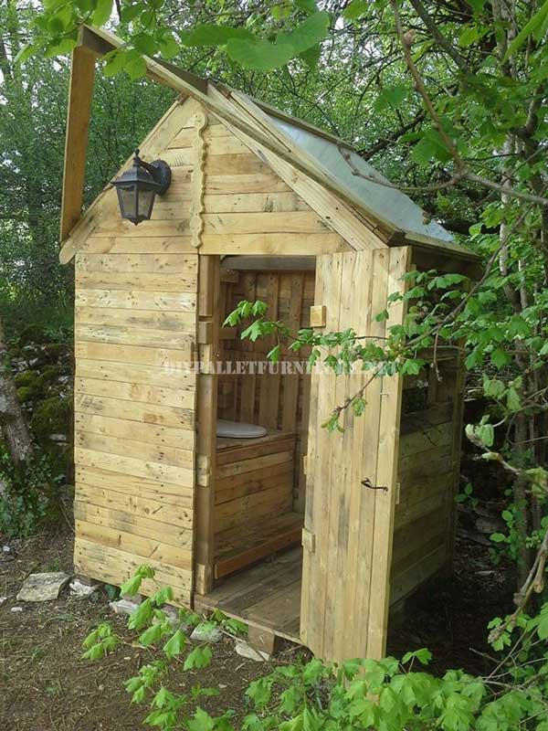Cabane avec salle de bainsmeuble en palette meuble en - Cabane dans les arbres avec salle de bain ...