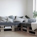 Canapé super facile à construire avec seulement 6 palettes