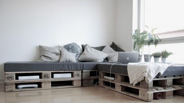 Canapé super facile à construire avec seulement 6 palettes 1