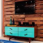 Petit salon meublé avec palettes