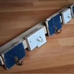 Simple portemanteau fait de planches de palettes