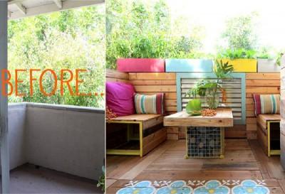Un paradis tropical avec des palettes 2