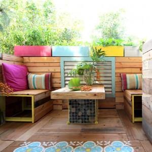 Un paradis tropical avec des palettes 4