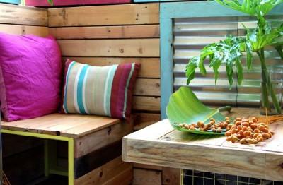 Un paradis tropical avec des palettes 6