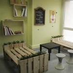 3D plans pour fournir un bureau avec palettes