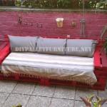 Canapés et fauteuils avec des palettes en plein air