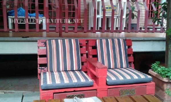 Canapés et fauteuils avec des palettes en plein air 5