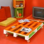Lounge économique meublé avec palettes
