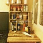 Meuble auxiliaire pour la cuisine avec des palettes