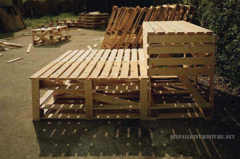 Projette de construire un compteur de palettes - Construire un meuble en palette ...