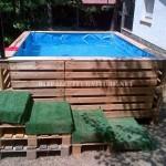 Projette pour construire une piscine avec palettes